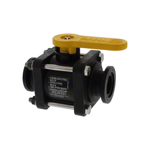 503736 - Banjo MV100CF Flanged 4 Bolt Poly Ball Valve