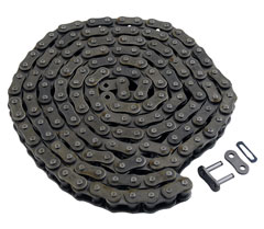 60H roller chain; Made in U.S.A. 10 ft. roll.