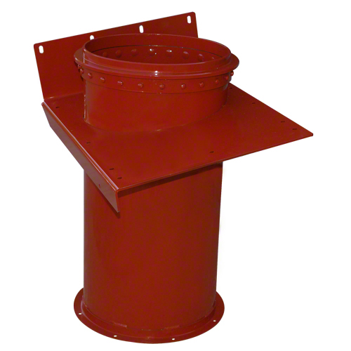 Vertical unloading tube. 11 gauge material. Fits Case-IH combines. Replaces Case-IH No's B95650A; 248307A2; 87593313.
